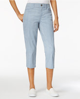 Style&Co. Style & Co Petite Striped Capri Pants, Only at Macy's