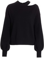 Akris Punto Asymmetric Cutout Knit Wool & Cashmere Sweater