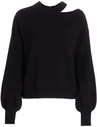 Akris Punto Asymmetric Cutout Knit Wool & Cashmere Sweater