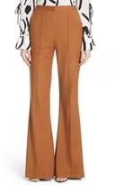 Diane von Furstenberg Women's Pleat Front Flare Leg Pants
