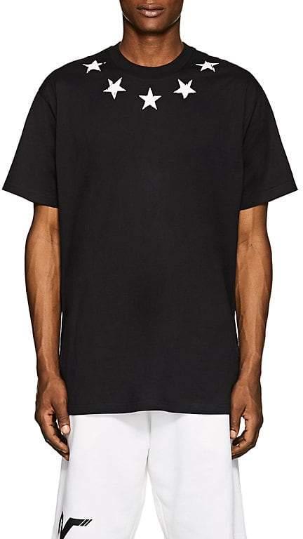 Givenchy Men's Star-Print Cotton T-Shirt