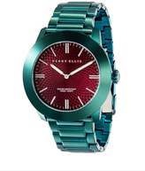 Perry Ellis Slim Line Burgundy Leather Watch