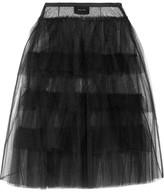 Simone Rocha Layered Tulle Midi Skirt - Black