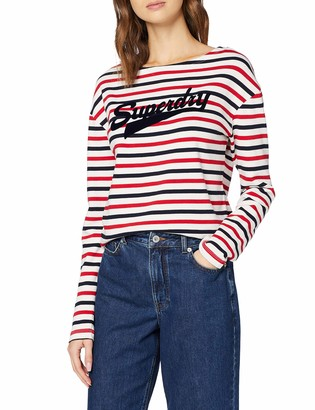 Superdry Women's Jaden Stripe Ls Top Long Sleeve