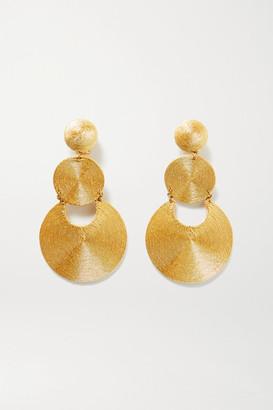 Rebecca De Ravenel La Tropezienne Gold-plated Cord Clip Earrings