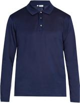 Brioni Long-sleeved cotton-piqué polo shirt