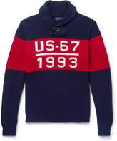 Polo Ralph Lauren - 1993 Shawl-Collar Intarsia Cotton Sweater