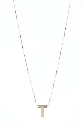 KARAT RUSH 14K Yellow Gold Block Letter Initial Pendant Necklace - Multiple Letters Available