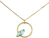 WWAKE Marquise Opal Circle Necklace