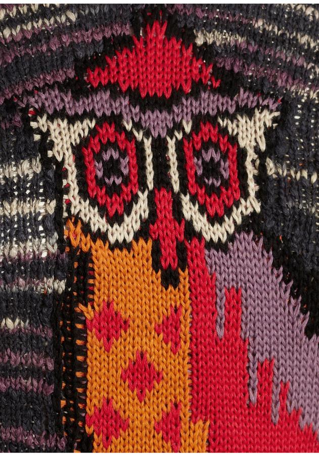 Etoile Isabel Marant Sao owl-intarsia cotton-blend sweater