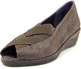 VANELi Nelwina Women US 9.5 Brown Peep Toe Flats