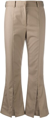Rokh Front Slits Cropped Trousers
