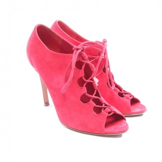 Gianvito Rossi Red Suede Ankle boots