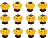 Ideal Decor IdealDecor 12pcs Retro Pumpkin Shape Ceramic Knobs /Handles/Pulls For Kitchen Cabinets ,Cupboards,Wardrobe,Drawer,Dresser ,Bin,Chest etc Vintage DIY Home Decorative