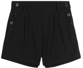 Marks and Spencer Girls' Side Button Crease Resistant Shorts with Triple Action StormwearTM