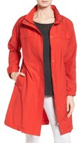 Eileen Fisher Women's Stand Collar Long Jacket