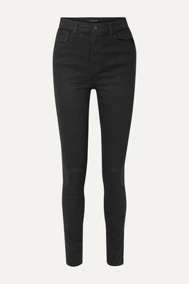 "J Brand Carolina 32"" High-rise Skinny Jeans - Black"