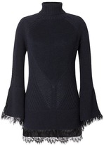 Banana Republic x Olivia Palermo | Cable-Knit Turtleneck with Lace Accents