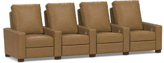 Pottery Barn Turner Square Leather Media Row of 4