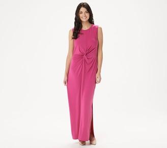 BROOKE SHIELDS Timeless Petite Sleeveless Maxi Dress with Twist