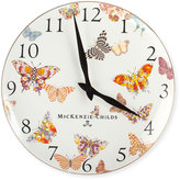 Mackenzie Childs MacKenzie-Childs White Butterfly Garden Clock