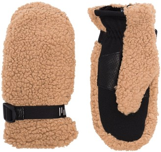 Holden Adjustable Buckle Faux-Shearling Gloves