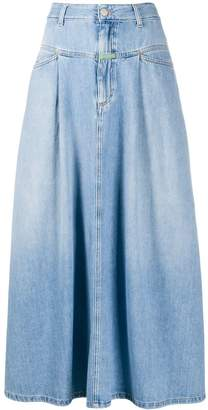 Societe Anonyme x Closed high-waisted denim maxi skirt