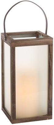 Everlasting Glow 16In Wood Lantern