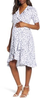 Isabella Oliver Lullah Ruffle Wrap Maternity Dress