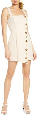 Finders Keepers Tia Button Front Minidress