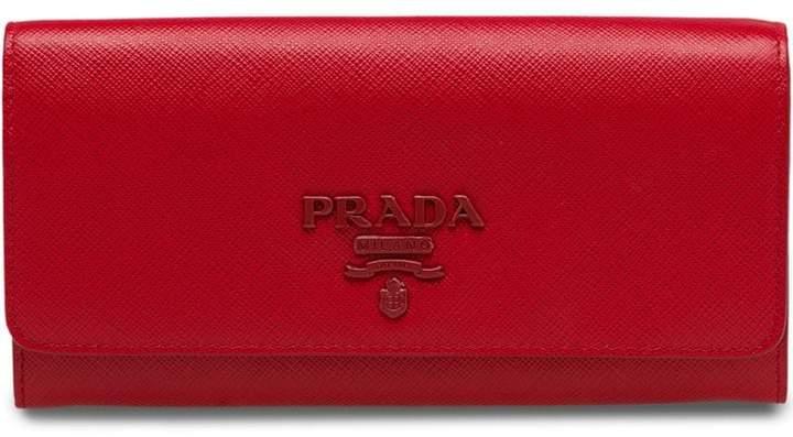 a9eff18a460b Prada Saffiano Leather Wallet - ShopStyle
