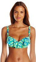 CoCo Reef Women's Amazon Aura Ruffle Underwire Bikini Top
