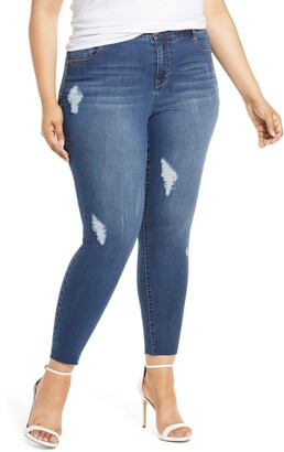 1822 Denim Distressed Jeggings