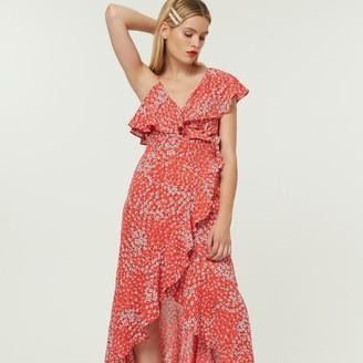 Jovonna London Red Zaida2 Asymmetric Dress - extra small