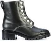 3.1 Phillip Lim Hayett lug sole pearl boots - women - Calf Leather/Leather/plastic/rubber - 36