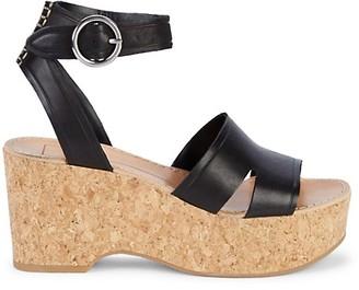 Dolce Vita Linda Leather Cork Sandals