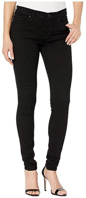Hudson Nico Mid-Rise Super Skinny in Black (Black) Women's Jeans
