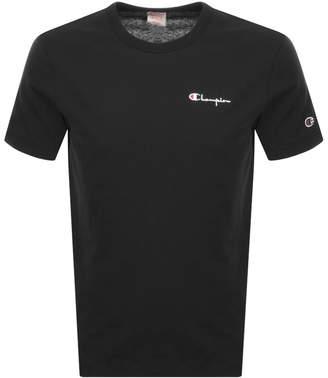 Champion Crew Neck Logo T Shirt Black