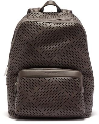 Bottega Veneta Zaino Perforated-leather Backpack - Brown