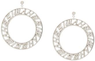Misbhv Logo Hoop Earrings