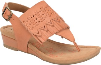 Comfortiva Leather Wedge Sandals - Shayla