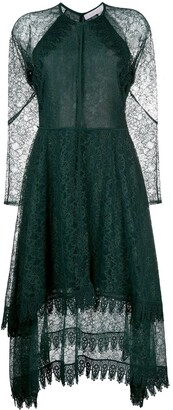 See by Chloe Tiered Lace Midi Dress