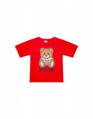 Moschino Teddy Bear Maxi T-shirt Unisex Red Size 4a It - (4y Us)