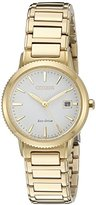 Citizen Eco-Drive Women's 'Sport' Quartz Stainless Steel Casual Watch, Color: Gold-Toned (Model: EW2372-51A)