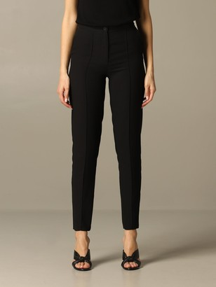 Armani Collezioni Armani Exchange Pants Armani Exchange High-waisted Crêpe Trousers