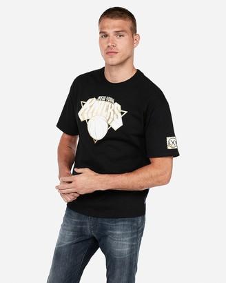 Express New York Knicks Nba Heavyweight Foil Graphic T-Shirt
