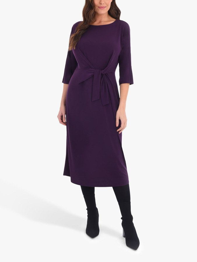Live Unlimited Curve Jersey Tie Front Dress