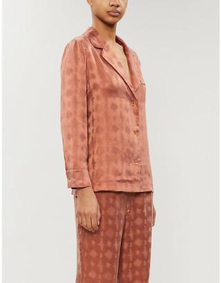 LOVE Stories Jeanne abstract-pattern satin pyjama top