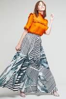 Anthropologie Aspen Printed Maxi Skirt