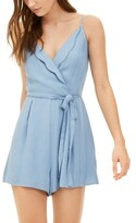 Thumbnail for your product : Trixxi Juniors' Scallop Wrap-Front Romper